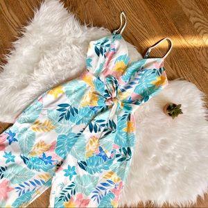 Tropical prints jumpsuit